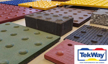 Tekway StrongGo-on demand-AIA HSW-ADA Guidelines for Detectable Warnings truncated domes tiles
