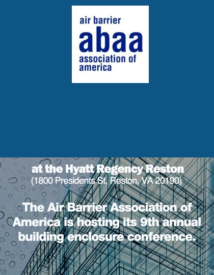 ABAA BUILDING ENCLOSURE CONFERENCE